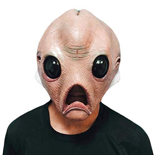 AIHOME - Mscara de Halloween para disfraz de Halloween, cabeza completa, mscara de terror, mscara de terror, disfraz de Halloween