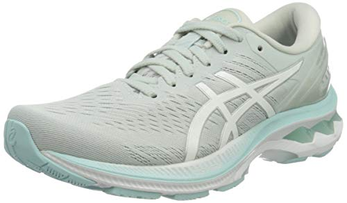ASICS Women's Gel-Kayano 27 Road Running Shoe, Glacier Grey White, 5 UK