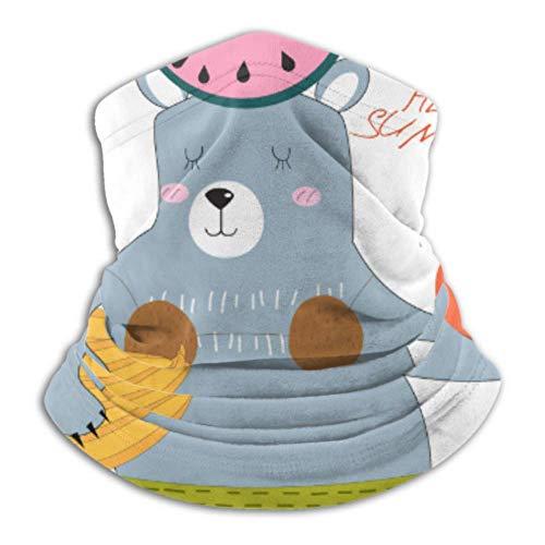 Belongtu Halstuch Gesichtsbedeckung Neck Warmer Cute Teddy Bear Colorful Sunny Summer Scarf Neck Gaiter Tube,Ear Warmer Headband & Face Coverk,