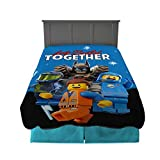 """Franco Kids Bedding Super Soft Plush Blanket, Twin/Full Size 62"""" x 90"""", Lego Movie 2 camping blankets May, 2021"""