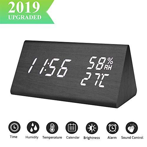 EMORE Reloj Digital,Reloj Despertador Alarmas Programables,Pantalla