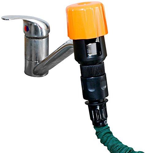 Royal Gardineer Schlauchadapter: Universal-Wasserhahn-Adapter zum Anschluss von Gartenschläuchen (Wasserhahnanschluss)