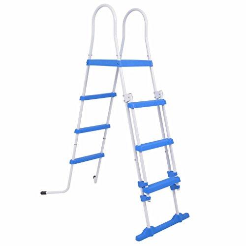 Galapara Poolleiter - Pool Ladder - Schwimmbadleiter Poolzubehör - Sicherheitsleiter für Aufstellpools 3 Stufen 122 cm