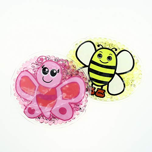 2 Kühlpads Biene Schmetterling Wärmekissen Wärmekompresse Kühlpad Kühlkissen Kühlkompresse