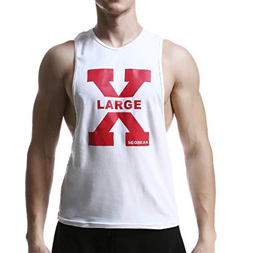 Preisvergleich Produktbild TEBAISE Herren Tank Tops Basic Muskel Gym Fitness Tankshirt Saugfähige Rundhalsausschnitt Weste T-Shirt Sport Bekleidung Für Workout Training Spartaner Slim Fit Print Bodybuilding 2019 Sommer