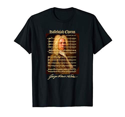 Halleluja Chor Noten Partitur Portrait | Musikliebhaber T-Shirt