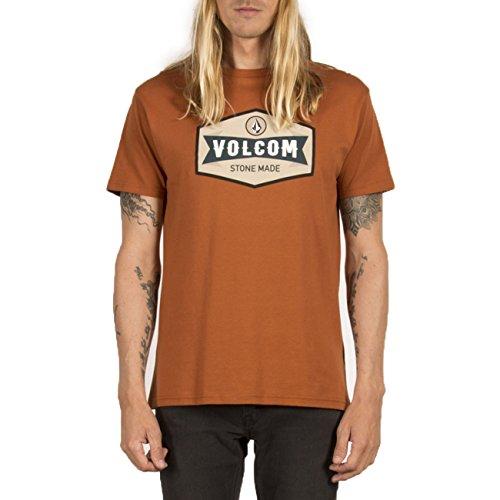 Volcom Budy BSC SS kurzärmliges Herren-T-Shirt S Braun (Copper)