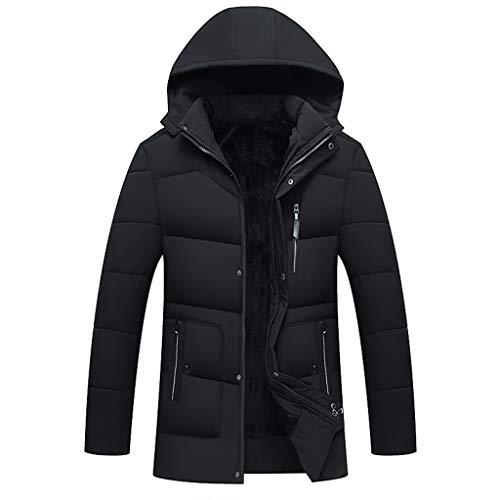 BRISEZZ herenjack, warm, softshelljack heren waterdicht, sportkleding mantel heren winter, middelste en lange dikkere bergbeklimmen bovenkleding (zwart, groen, navy, M-L5)