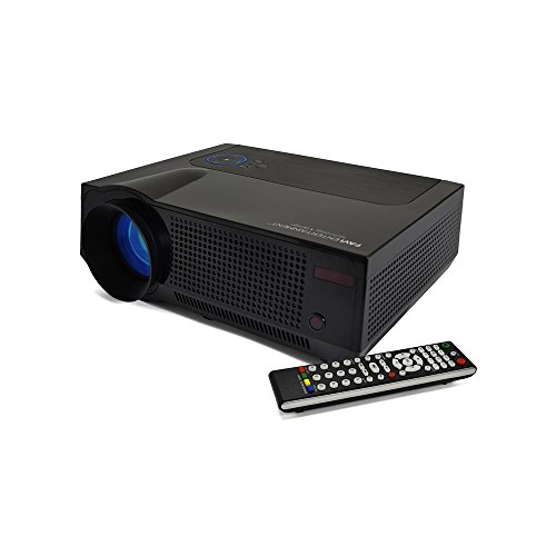 FAVI 4T SVGA HD Projector with Ultra-Bright LED LCD Technology, 4K Support, Built-in Speakers, USB Media File Playback, Image Zoom