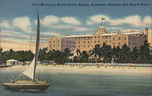 Fort Montague Beach Hotel Nassau, Bahamas Original Vintage Postcard 1953