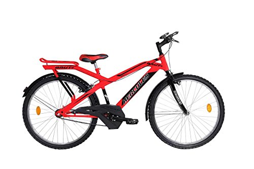 Hercules MTB Brut Plus RF 24T Stylish Sporty Smart Red/Black Steel Bike/Bicycle for Boys