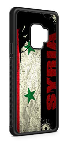 Kompatibel mit Samsung Galaxy S9 Plus S9+ Silikon Handyhülle Flexibles Slim Case Syrien Syria Fahne Flagge