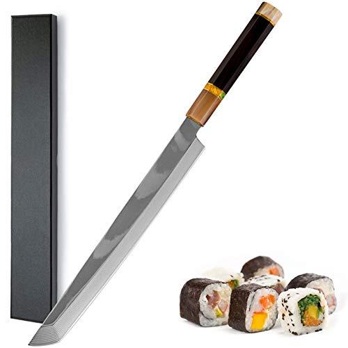 16.6 pulgadas Sushi japonés Cuchillo de sushi 33 Capa Damasco Sashimi Sashimi Cuchillo de cocina Fileteado Salmón Cleaza cortando pescado Sashimi Cuchillos (Color : Slicing Fish Sashimi Knives)