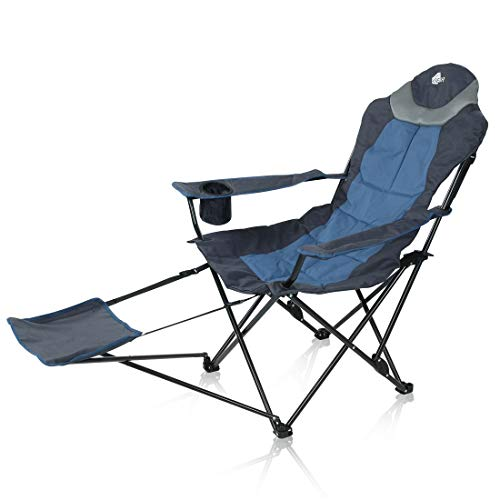 your GEAR Campingstuhl Pineto - XXL Klappstuhl - Stuhl mit Fußauflage und Verstellbarer Rückenlehne