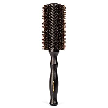 Boar Bristle Round Hair Brush - 2.2 Inch Diameter - Blow Dryer & Curling Roll Styling Hairbrush with Natural Wooden Handle for Women & Men - Used While Blow Drying to Style Curl and Dry Hair