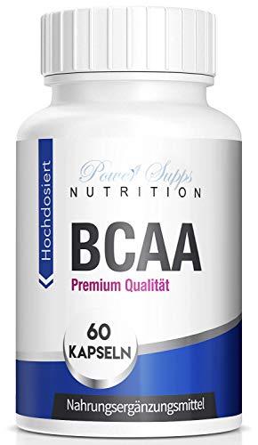 PowerSupps BCAA 8:1:1 Kapseln, essentielle Aminosäuren hochdosiert - Protein, Training und Workout Booster