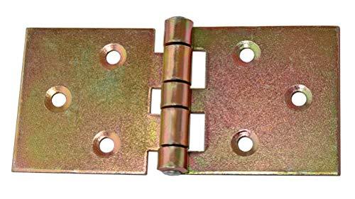 Nr.115 2 Möbelscharniere Kugelgelagert  Messing poliert  78 x 78mm