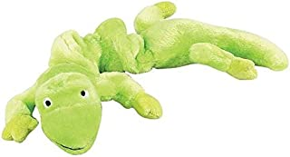 Zanies Gecko Lizard Bungee Dog Toys Durable Plush Stretch Colorful Squeaky Toy for Dogs(Neon Green)