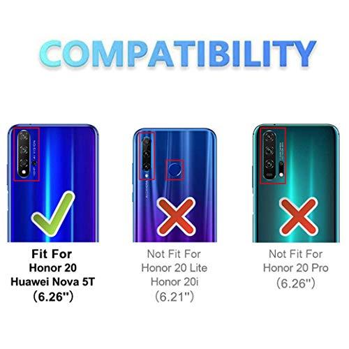 All Do Hülle für Huawei nova 5T/Honor 20 ,Premium PU Leder Flip Schutzhülle mit [Kartensteckplätze], [Ständer] [Magnetverschluss] Magnetisches Flip Wallet Case (Schwarz) - 4