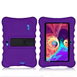 7 Inch Kids Tablet Cases Shockproof Silicone Cover for Dragon Touch Y88X Plus Y88X Pro/Haehne/YUNTAB Q88/ZONKO/Tagital T7K/Contixo/iRULU X37/SIXGO/INONI/LAMZIEN/Dasuy/CARRVAS Kids Tablet (Purple)