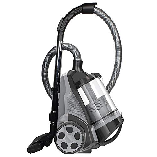 Fantastic Deal! Ovente ST2620B Bagless Canister Cyclonic Vacuum – HEPA Filter – Includes Pet/Sof...