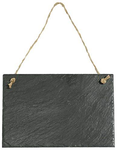 Feiner-Tropfen Schiefertafel zum beschriften Kreidetafel zum aufhängen Wandtafel Schieferdeko 30x20cm Groß L-2