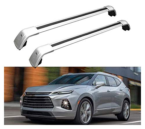 XIAOZHIWEN Coche bloqueable Crossbar Cross Bar Rack Rack Equipaje Carrier de Carga Ajuste para Chevrolet- Chevy Blazer 2019 2020 (Color : All Silver)