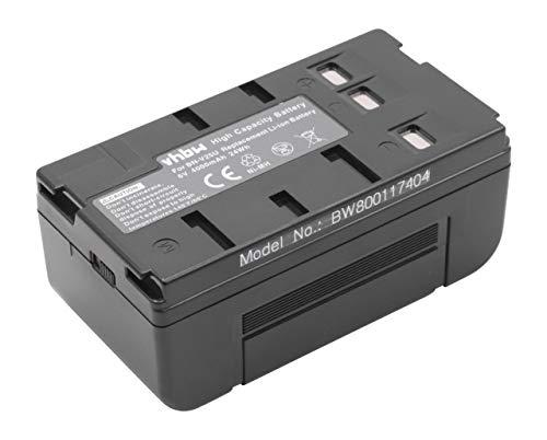 vhbw Batería NiMH 4000mAh (6V) para cámaras, videocámaras reemplaza Panasonic VW-VBS1, VW-VBS1E, VW-VBS2