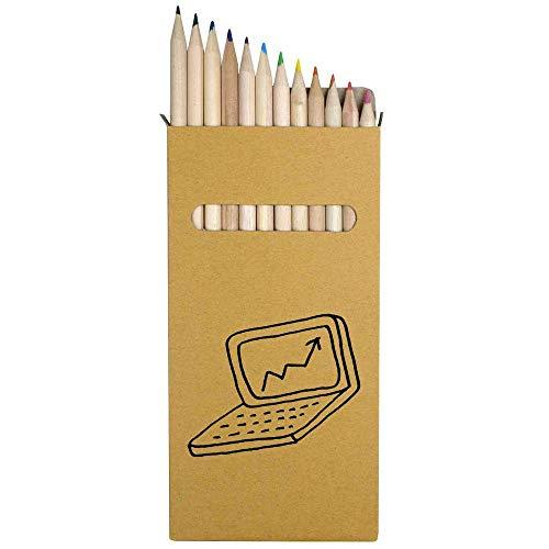 Azeeda 12 x 'Laptop' Long 178mm Coloured Pencils/Pencil Set (PE00031584)