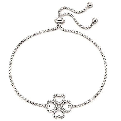 Folli Follie Miss Heart for Heart Single Bracelet 3B17S029 (Silver)