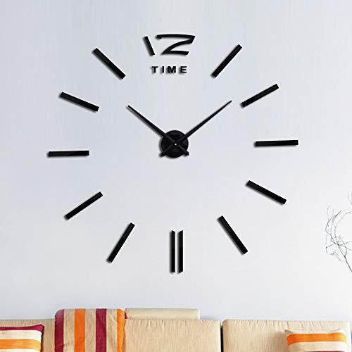 Fnito Reloj de Pared de Bricolaje Top Grande orologio al quarzo acrilico orologio da parete a Specchio Ancora orologi di Vita Camera autoadesivi Della decorazione Della casa che vivono 37inch Negro