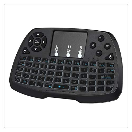 Liberación Retroiluminado 2.4GHz Teclado Inalámbrico Touchpad Mouse Control Remoto De Mano Retroiluminación De 4 Colores para Android TV Box Smart TV Notebook