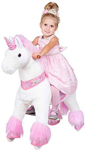 Miweba PonyCycle Sternschnuppe - Modell 2021 - U Serie - Schaukelpferd - Kuscheltier auf Rollen - Inline - Kinder - Pony - Pferd - Reiten - Plüschtier - MyPony… (Medium)