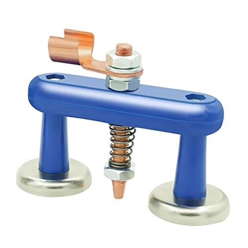 Garuru-Jidong Accesorio de la abrazadera de tierra de la soldadura magnética de la sola cabeza doble para la ayuda del soldador