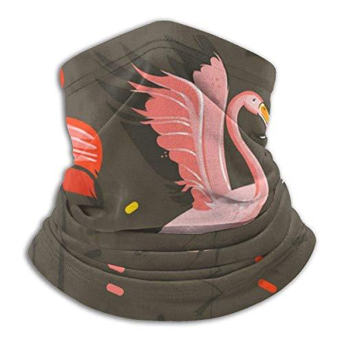 Hals Gamasche, abstrakte Cartoon Sommerzeit rosa Flamingo Hals Gamasche Schild Schal Bandana Gesichtsbedeckung Stirnbänder
