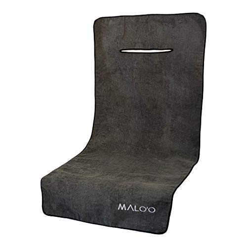 Malo'o Waterproof Terry Cloth Car Seat Cover is The World's Largest Single Seat Cover and Perfect for Athletes Fitness Gym Running Extreme Workout, Triathlon Beach Swimming Outdoor Water Sports