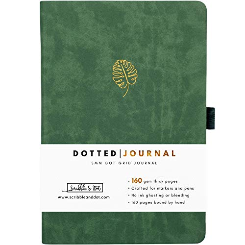 Bullet Planner/Dotted Journal - Monstera - A5 Ultra Thick 160gsm Paper -...