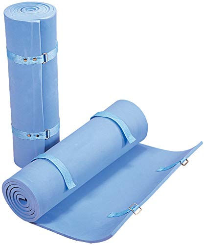"""STANSPORT - Deluxe Packlite Foam Sleeping Pad for Camping and Travel (Blue, 72"""" x 19"""" x 5/8"""")"""