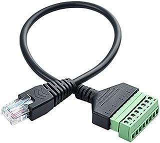 Kirmax Conector de Terminal de Tornillo RJ45 Cable RJ45 Macho una Cable de ExtensióN de 8 Pines para Cat5 / 6/7 Ethernet E...