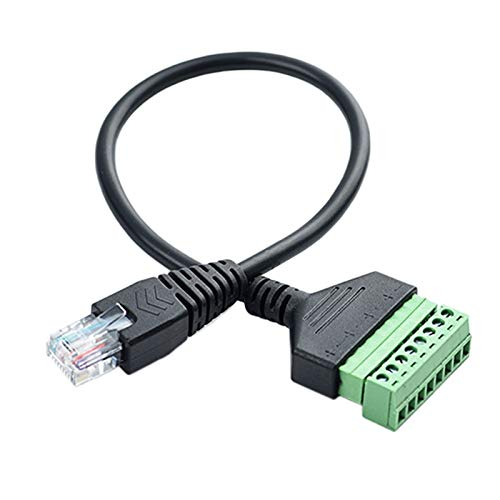 Deesen Conector de Terminal de Tornillo RJ45 Cable RJ45 Macho una Cable de ExtensióN de 8 Pines para Cat5 / 6/7 Ethernet Extender AV CCTV DVR