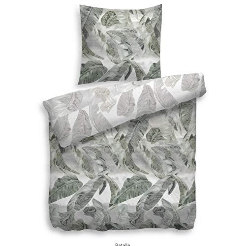 Heckett & Lane Parure de lit réversible Velvet Touch 155 x 220 cm Vert gris