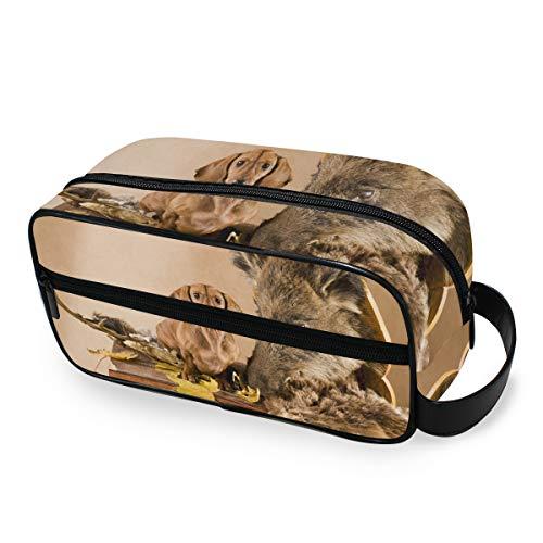 Opbergreis make-up tas draagbare tekkel met jacht trofee toilettas beauty tools cosmetische trekking case