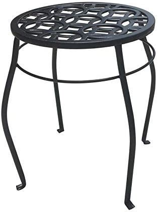 lowest Patio Life 15-in outlet sale Black Indoor/Outdoor Round sale Steel Plant Stand outlet online sale