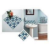 Rui Xin Trade - Adesivi da parete 3D per piastrelle di mosaico per bagno, cucina, 10 x 10 cm, 40 pezzi
