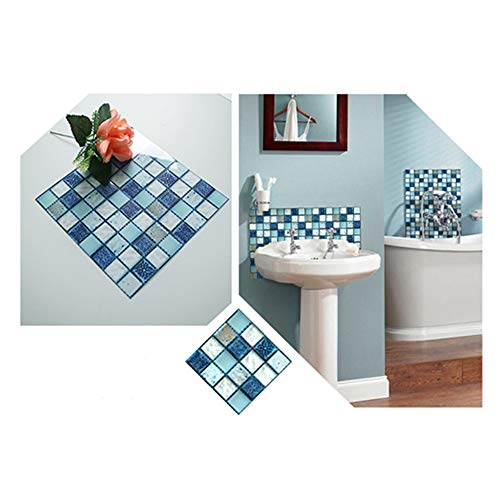 Rui Xin Trade Peel and Stick Backsplash 3D Mosaic Tile Stickers Waterproof Wall Sticker Home Decor for Kitchen Bathroom 3.93' x 3.93' (10x10cm) 20 PCS/Set