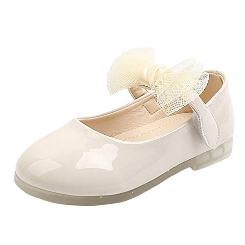 SO-buts Zapatos Escolares para Niñas con Plantilla Suave Cuero Princesa Flor Zapatos...
