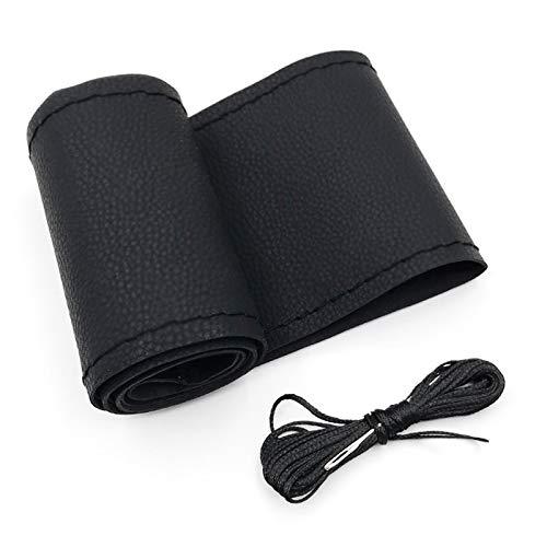 NO LOGO CCH-FXPBATAO, Winter Super Soft-Plüsch-Auto-Lenkrad-Abdeckung Universal, Warm-Pelz-Auto Lenker auf dem Steuerrad 37/38 cm (Color Name : Black)