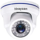 1080P Dome CCTV Camera, Hrayzan 1920TVL 2MP HD Security Camera, Hybrid 4 in 1 TVI/ CVI/ AHD/ CVBS Analog, IP66 Waterproof Indoor Outdoor Wired Surveillance Camera with 65ft Day Night Vision IR(White)