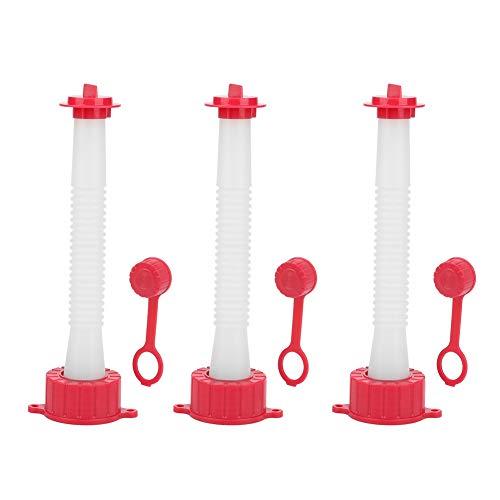 Flexibles Ausgussdüsenset mit Dichtung, 3-teiliges rot-weißes Kunststoff-Ersatz-Kit zum Verschließen des Ausgussstopfens