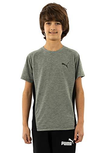 PUMA Jungen Evostripe Tee B T-shirt, Medium Gray Heather, 176